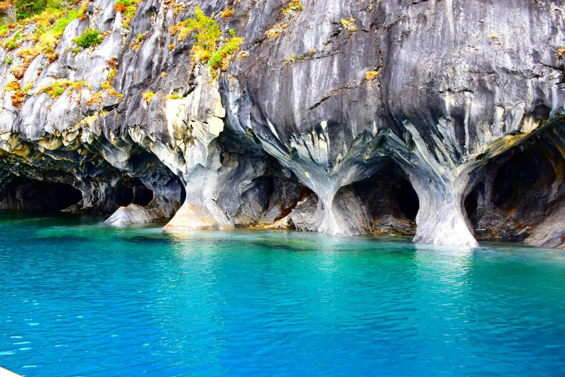 the beautiful marble caves, Patagonia Chile