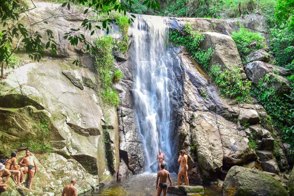 Cachoeira da Feiticeira Waterfall on Ilha Grande