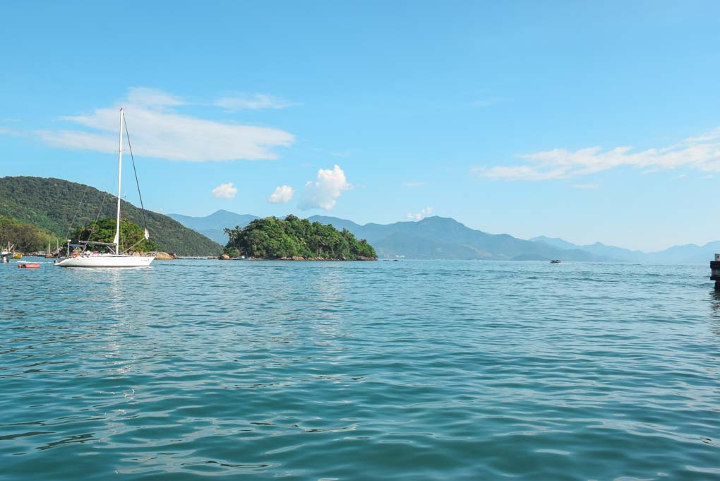 On the open water off Ilha Grande, Brazil