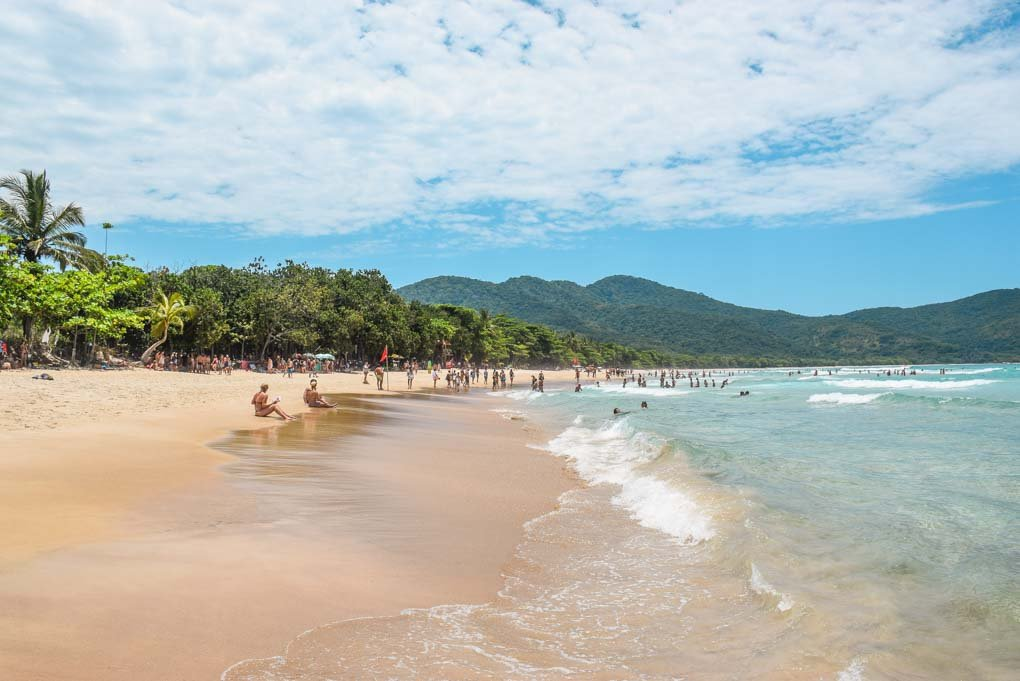 Lopez Mendez Beach on Ilha Grande, Brazil