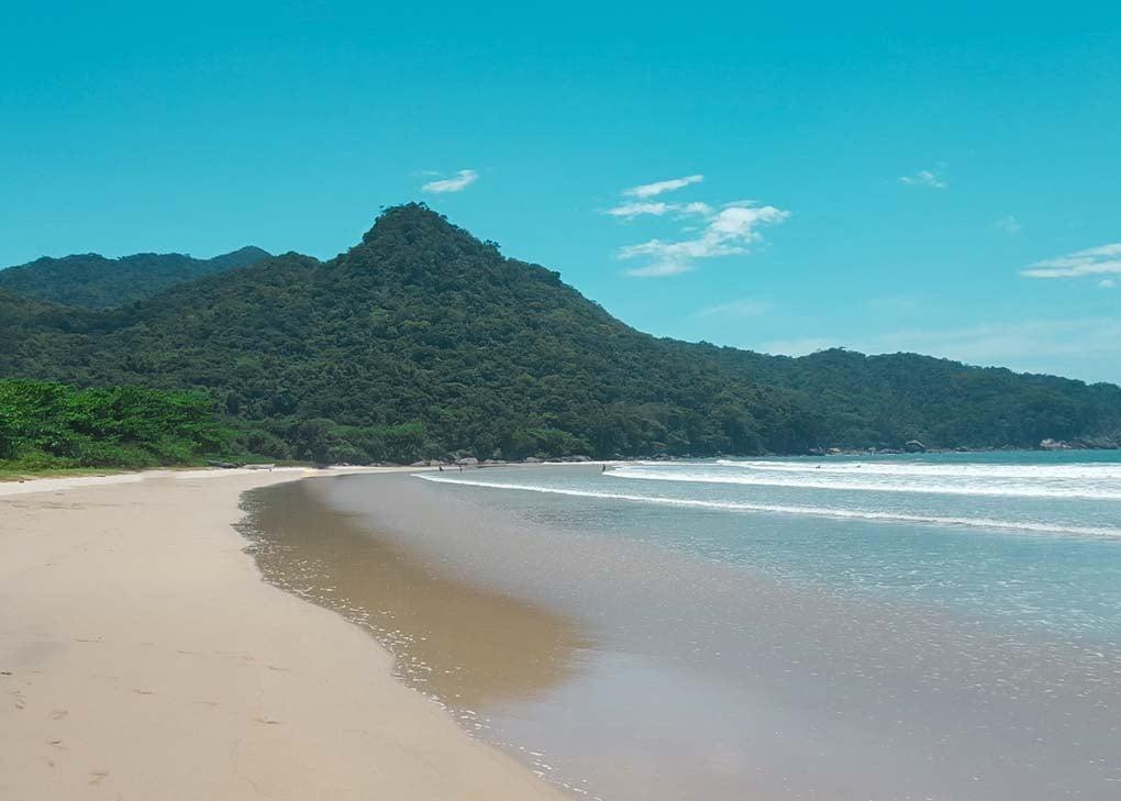 Dois Rios Beach on Ilha Grande, Brazil