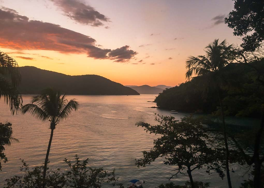Sunset on Ilha Grande, Brazil