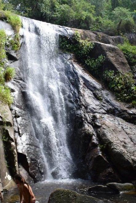 the waterfall on ilha grande