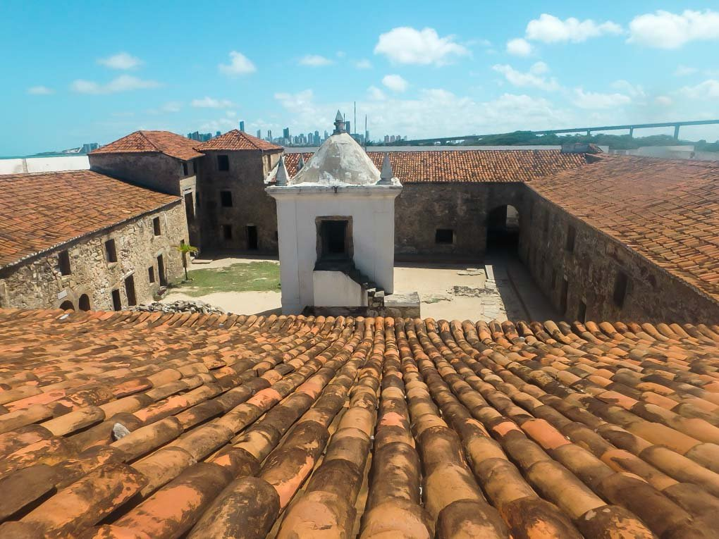 A photo from the roof of Fortaleza dos Reis Magos in Natal