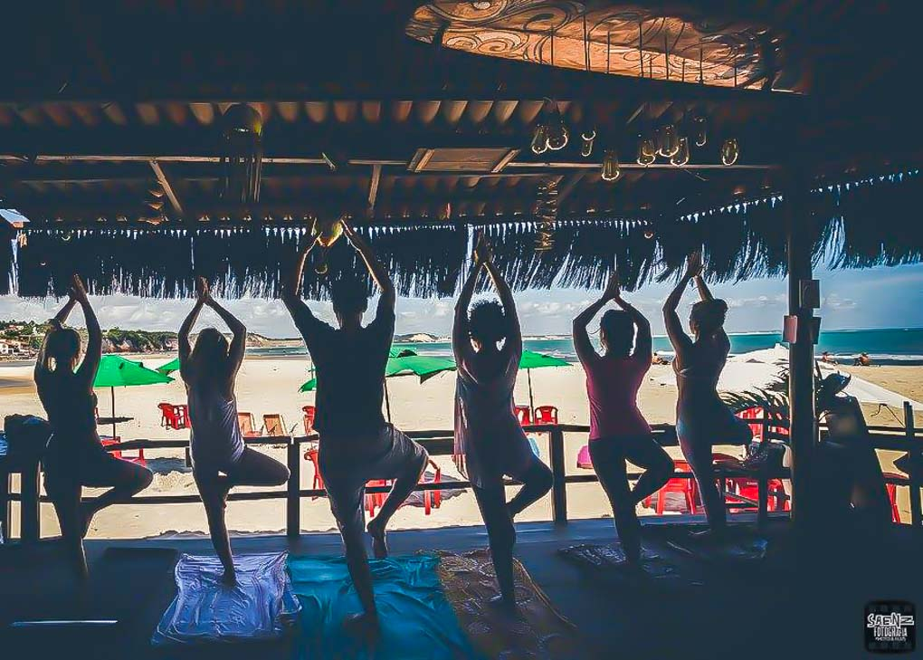 Yoga at Orishas Resto Bar in Pipa