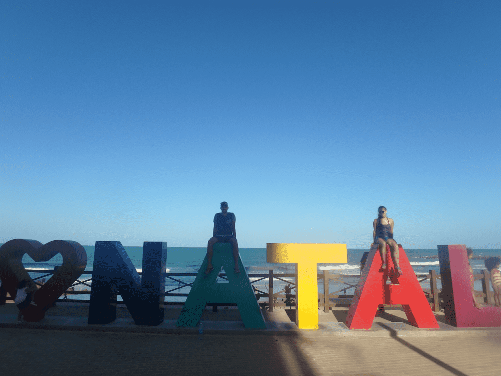 take a photo with the i love natal sign