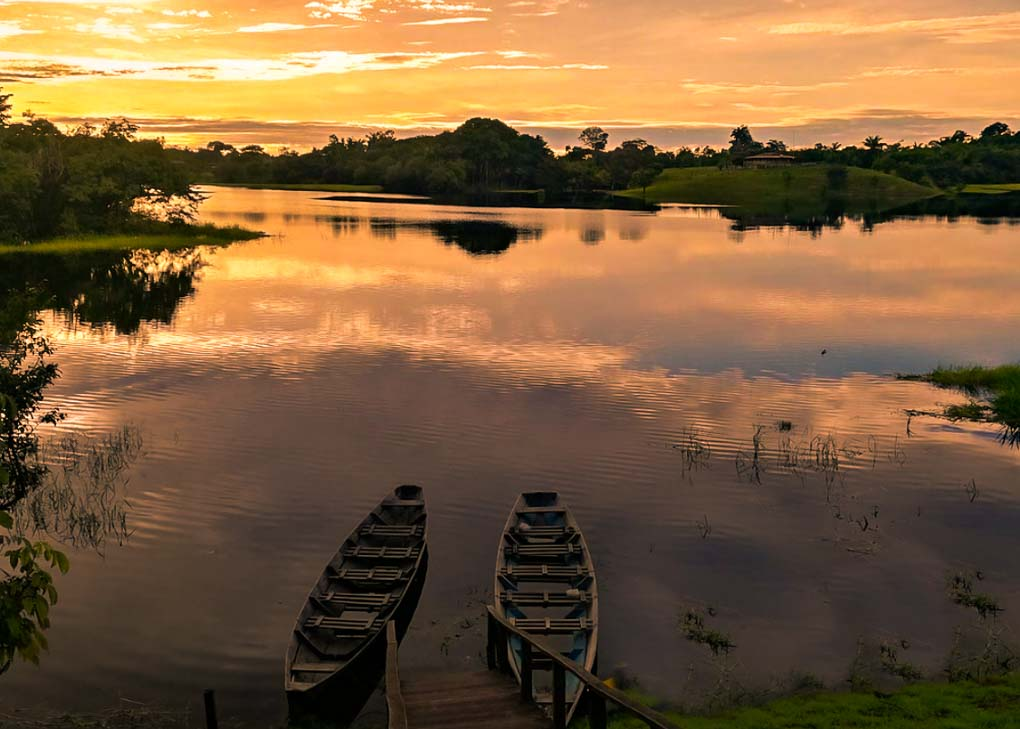 Sunset on the Pantanal in Brazil