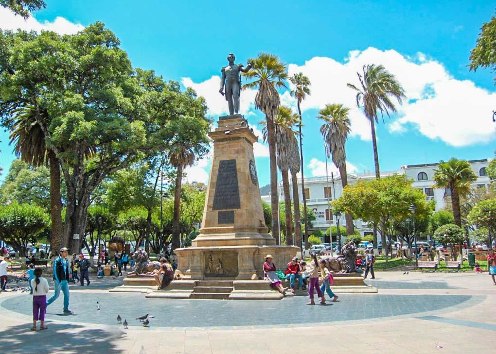 Plaza 25th de Mayo in Sucre, Bolivia