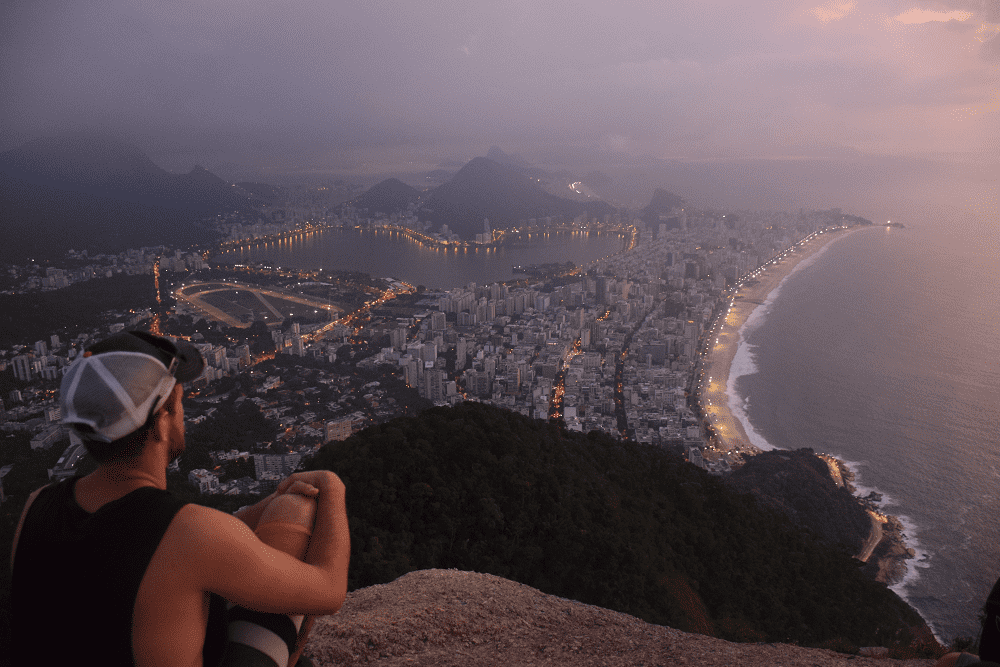 two brothers hike in rio