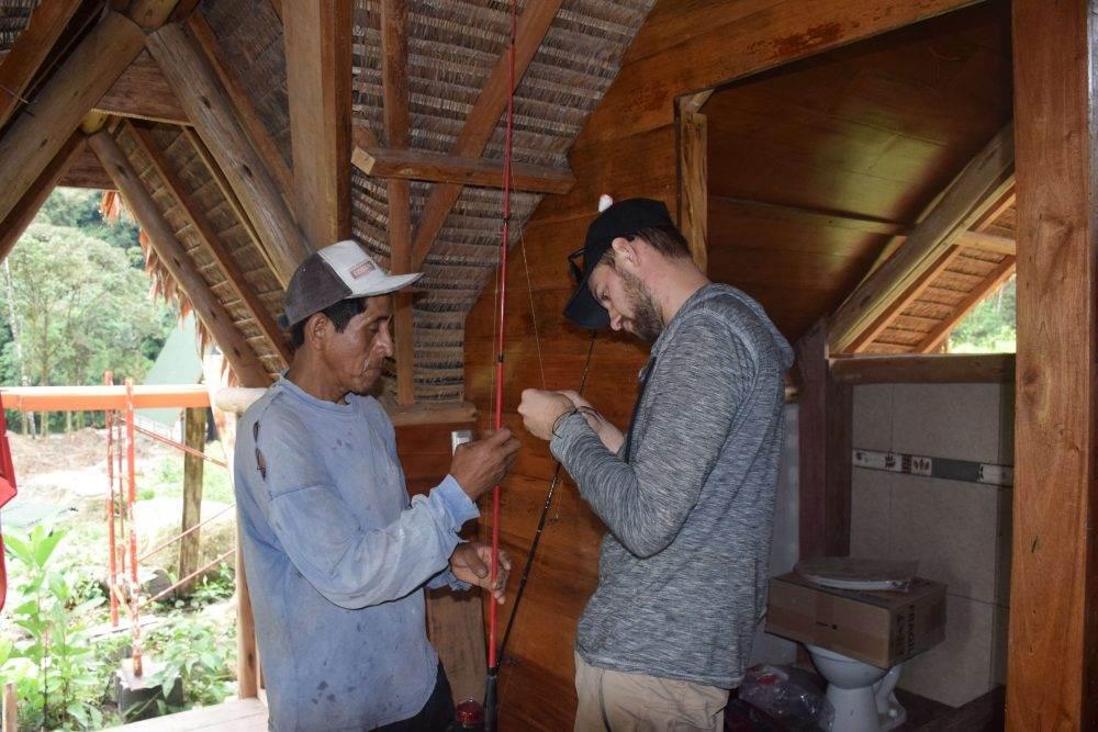 going fishing in the Peruvian jungle