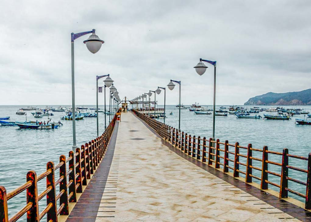 The jetty at Puerto Lopez, Ecuador