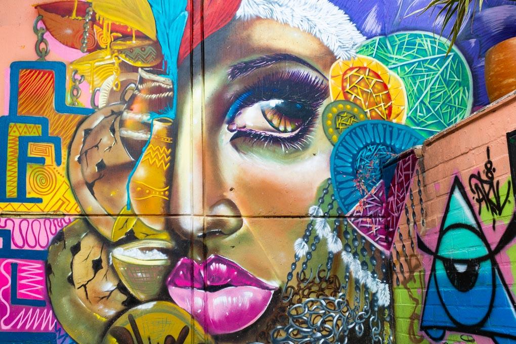 Street art in Comuna 13, Medellin, Colombia