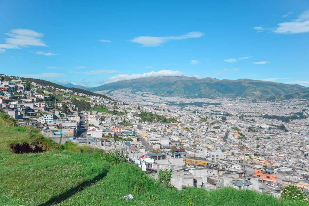 The city of Quito, Ecuador from a viewpoint