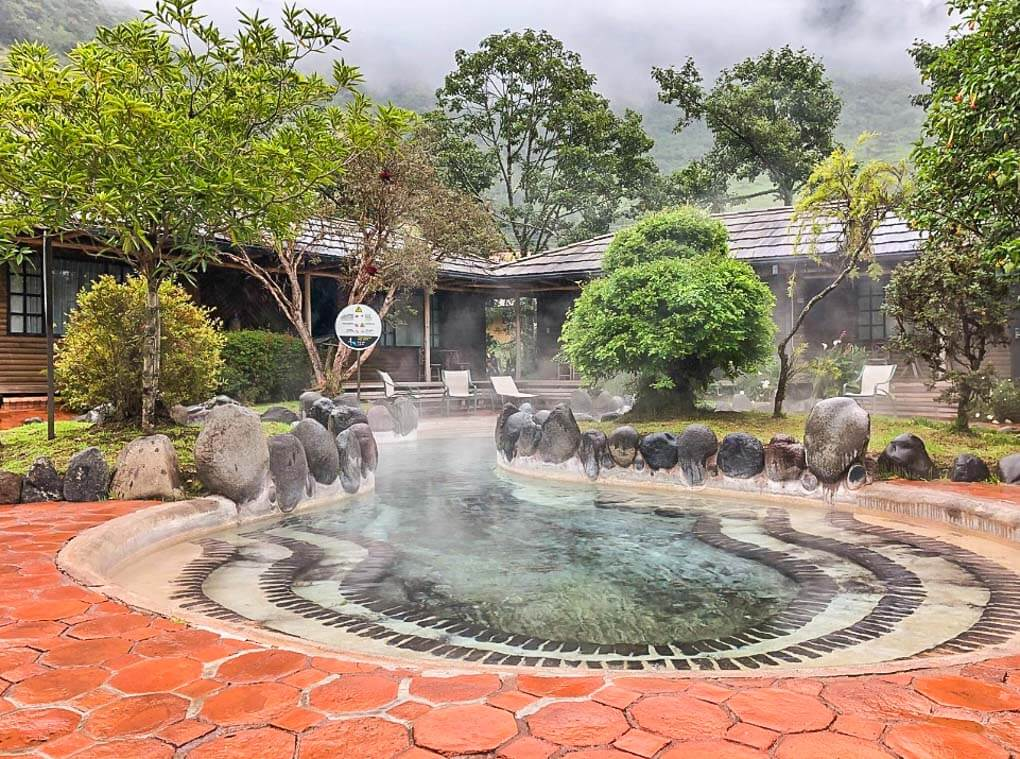 One of the pools at Papallacta Hot Springs near Quito