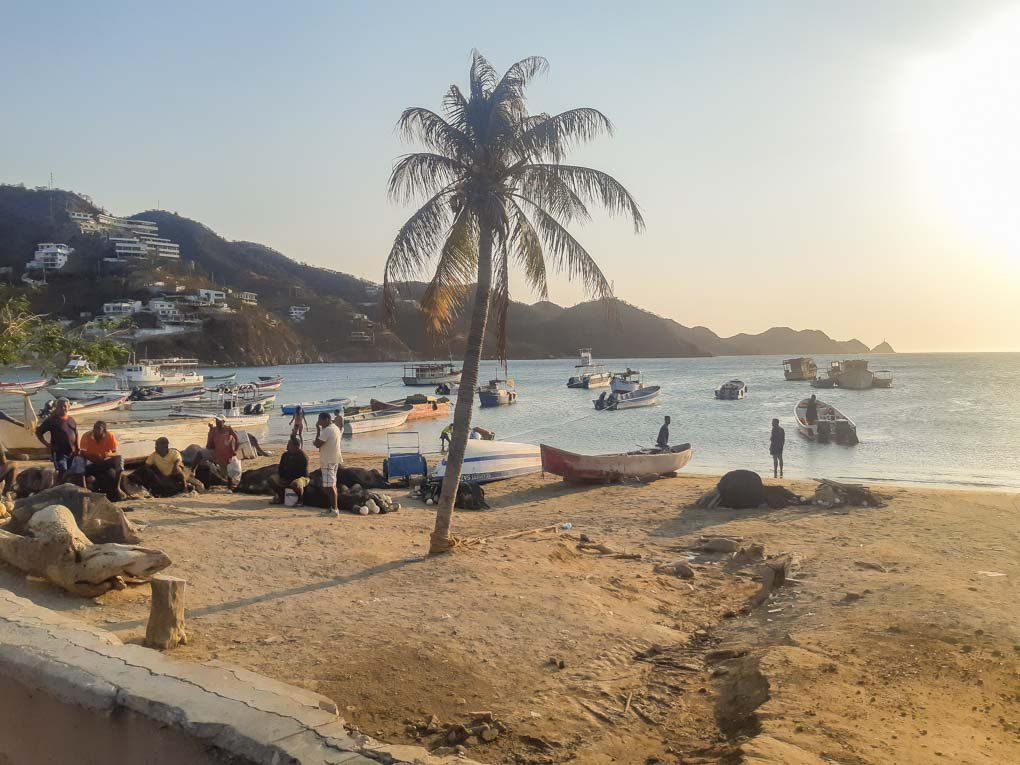A view of te beach in Taganga