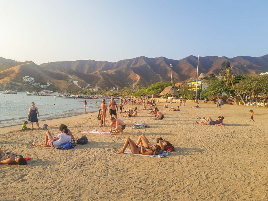 The beautiful beach of Taganga, Colombia