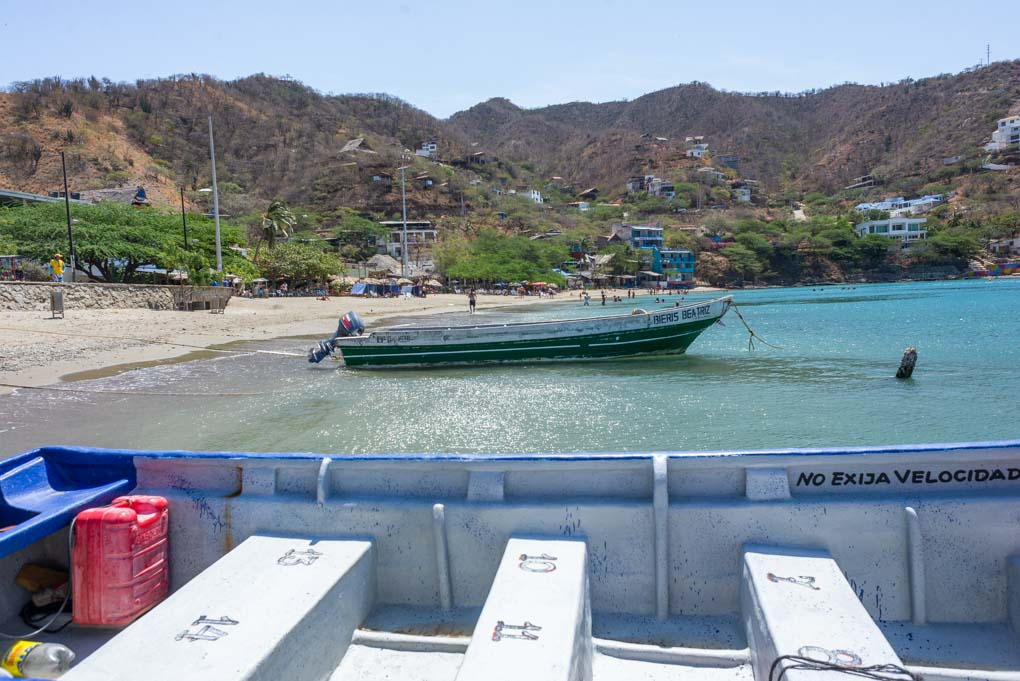 A fishing boat in the harbor of Taganga