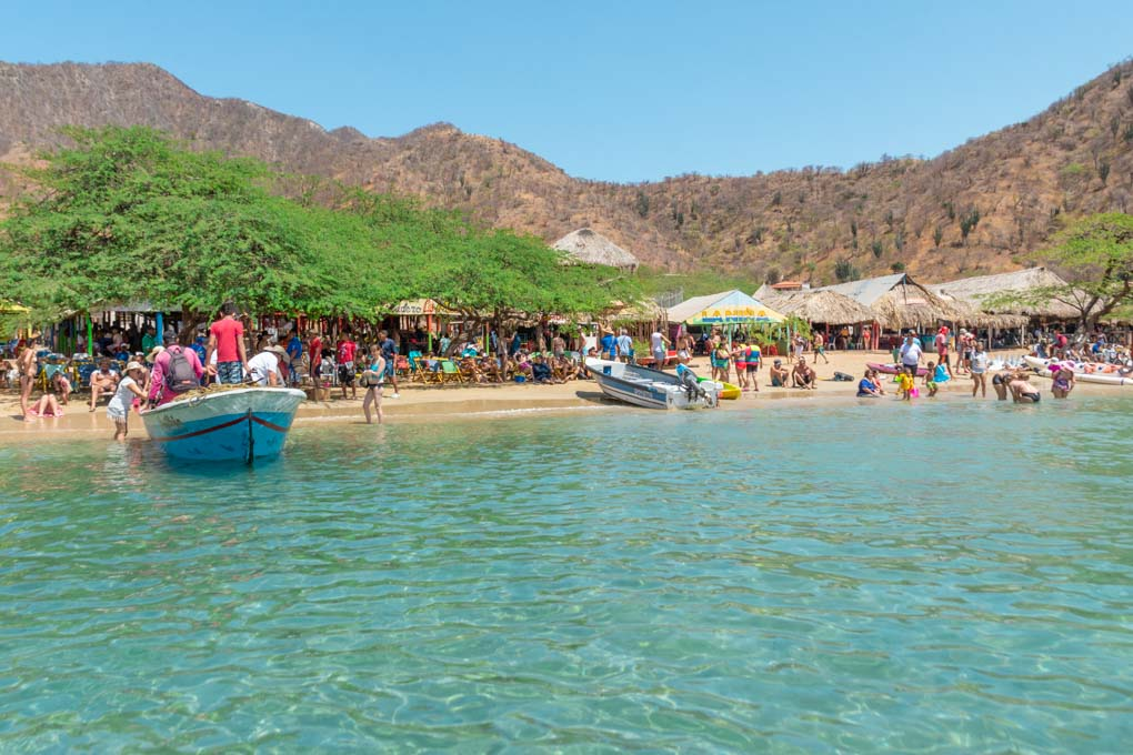 boat tour to playa grande in colombia