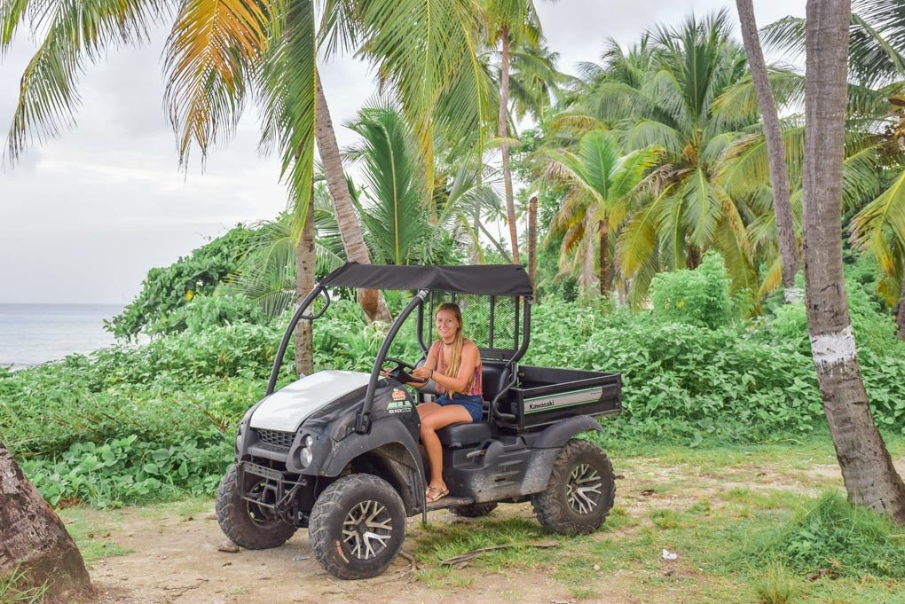 riding a buggy on san andres colombia
