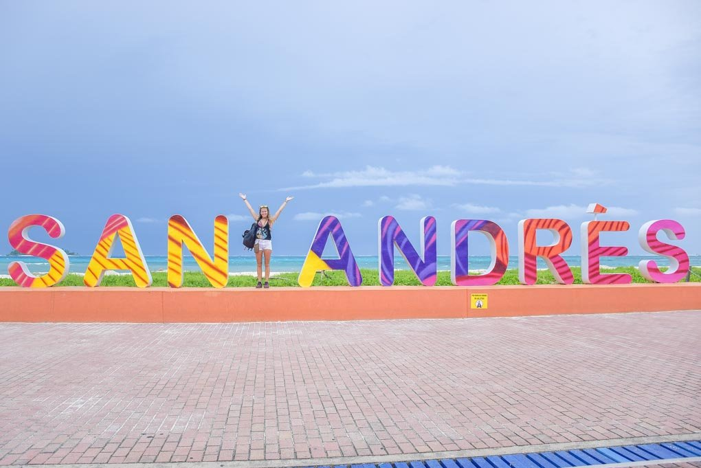 san andres colombia sign