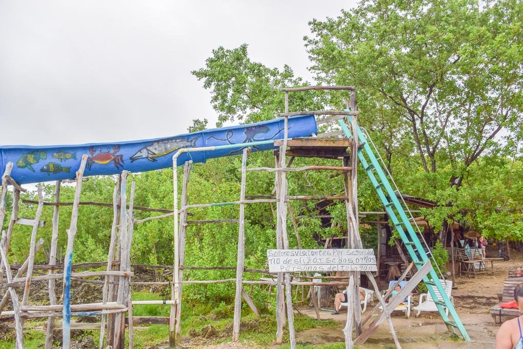 the waterslide at west view in san andres island