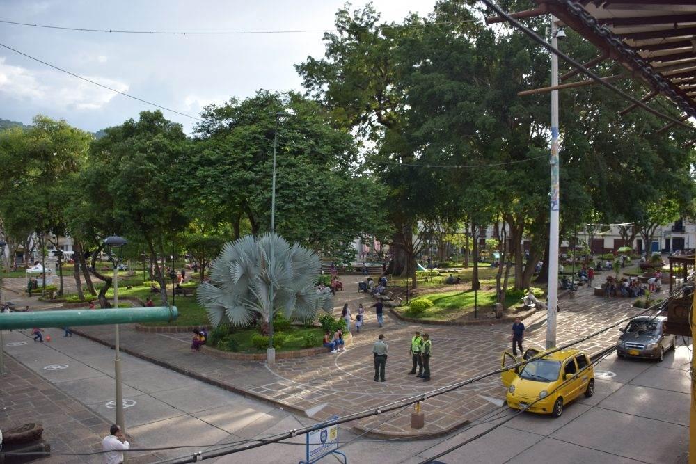 the central square in san gil