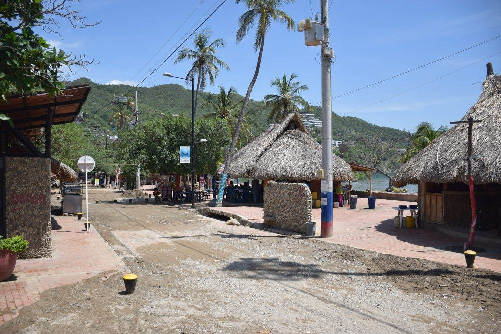 the streets of taganga colombia