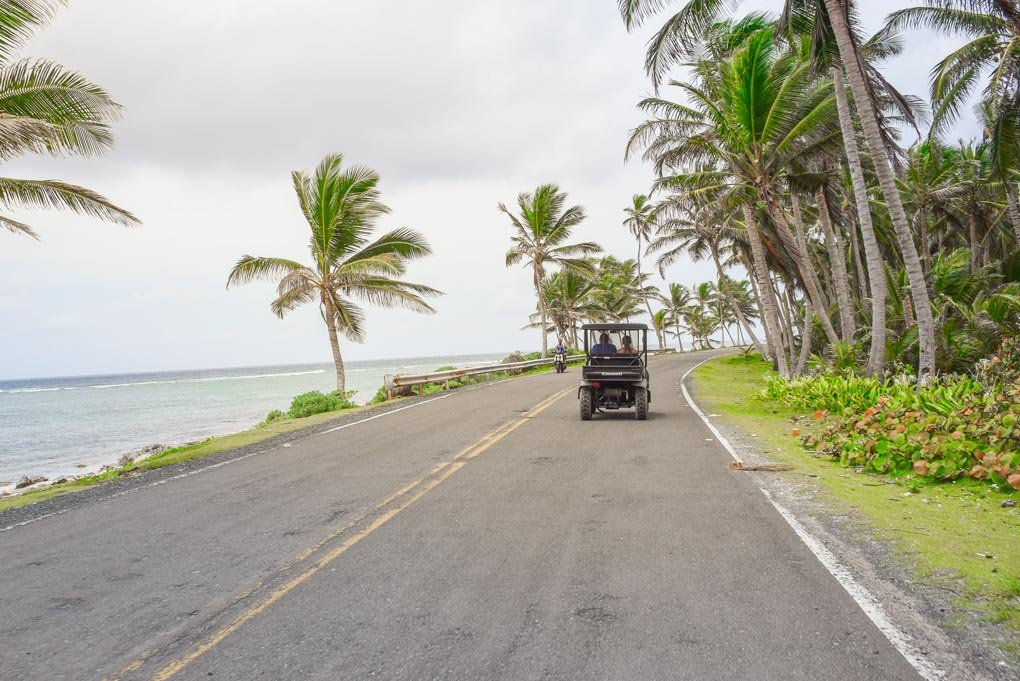 driving around san andres island in a buggy