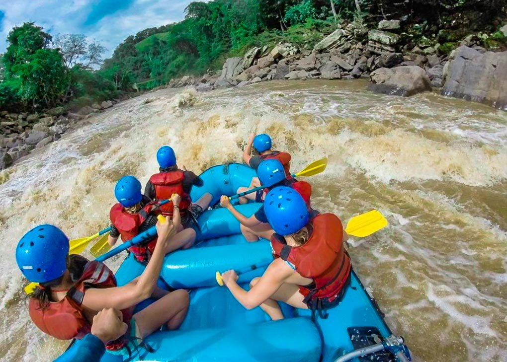 White water rafting on the Rio Suarez in San Gil, Colombia