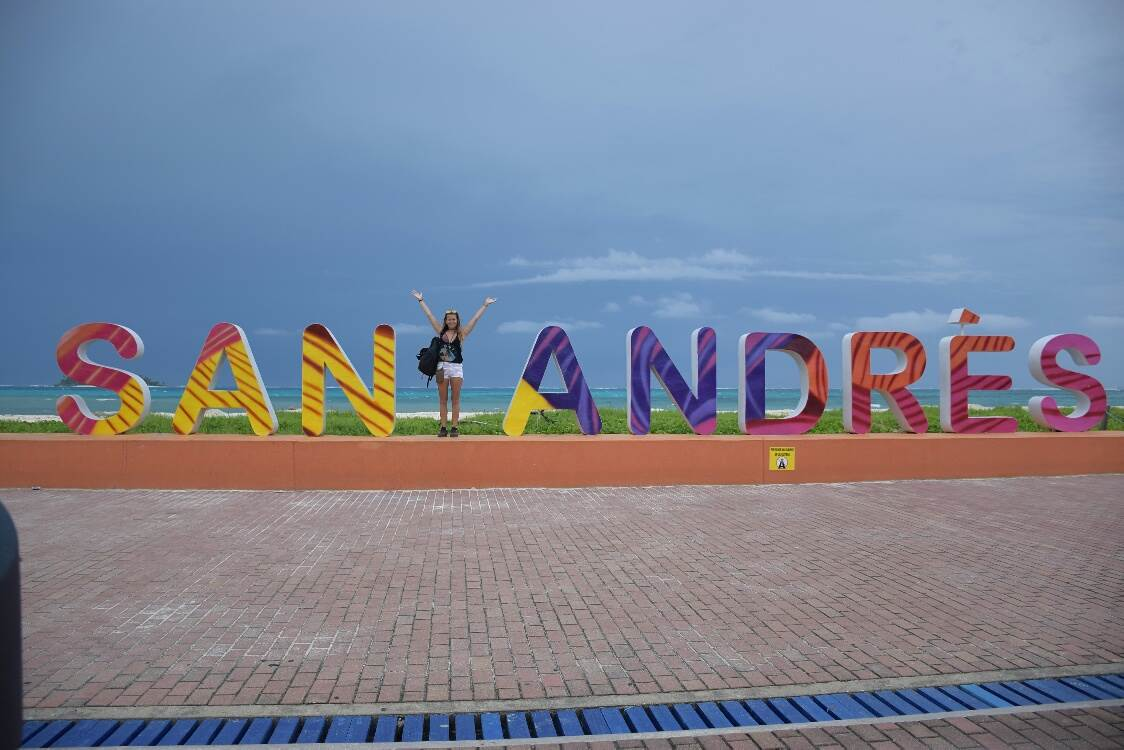 san andres island colombia sign