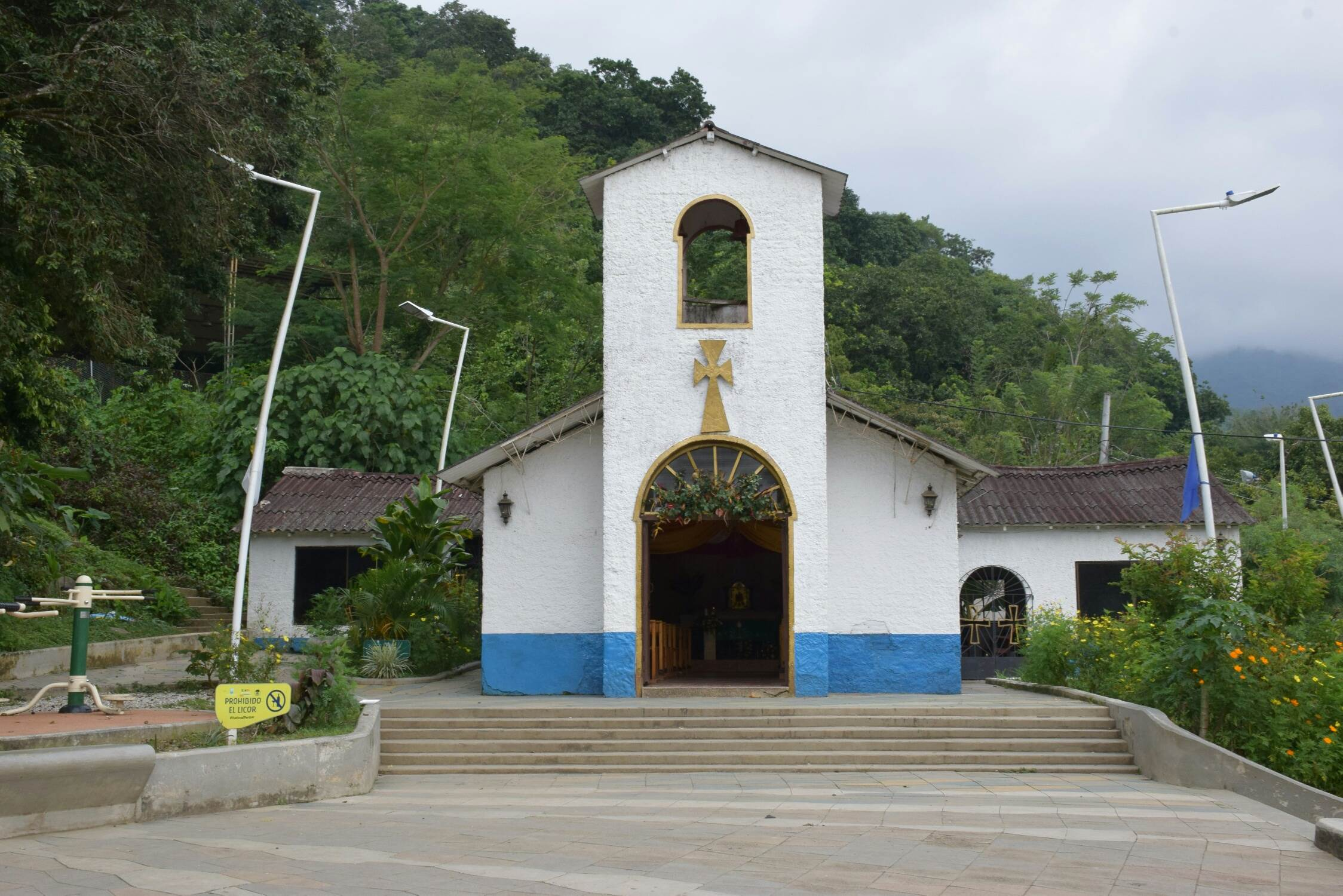 Going from Santa Marta to Minca you will see this church