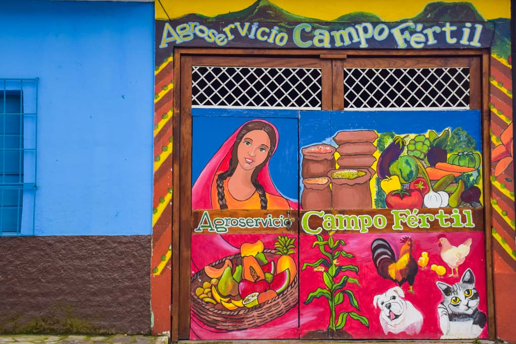 Street art in the town of Ataco