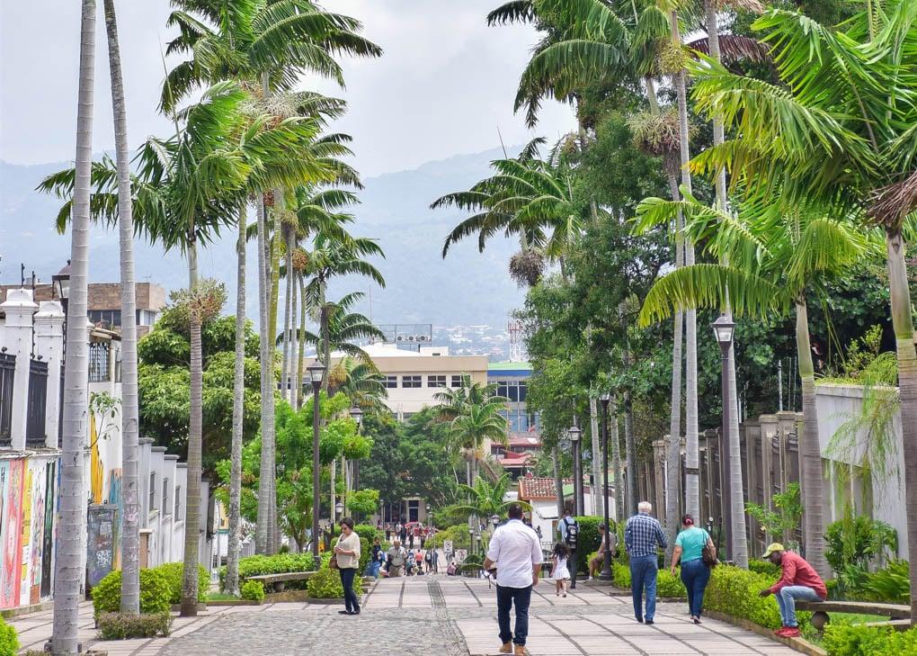 The beautiful streets of San Jose, Costa Rica