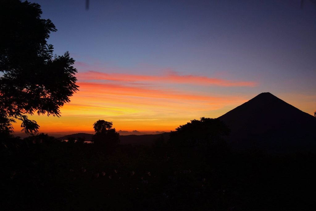 Where to stay in ometepe is important to get this sunset view