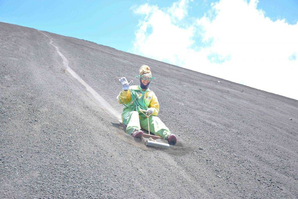 volcano boarding is the best of all of the things to do in Leon Nicaragua