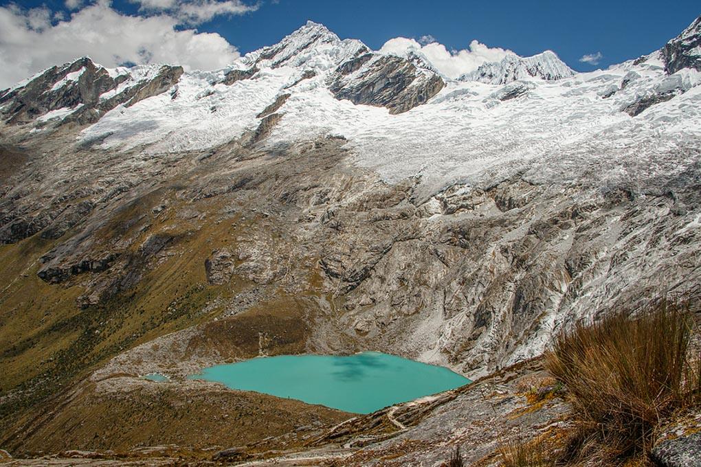The lake in Huascaran NP from the highest point of Santa Cruz Trek, Peru