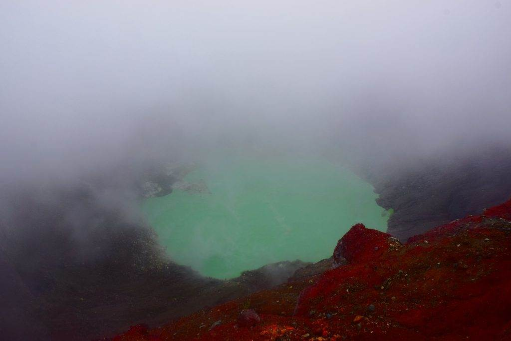 The lake on the Santa Ana volcano hike