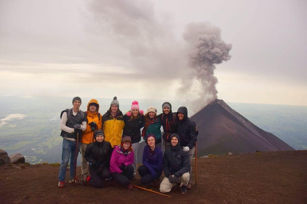 Sunrise on the Acatenango Volcano hike