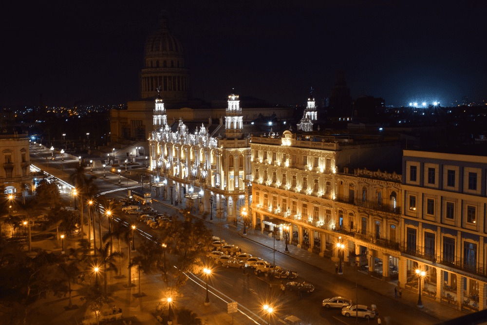 The views from the Central Park Hotel, Old Havana