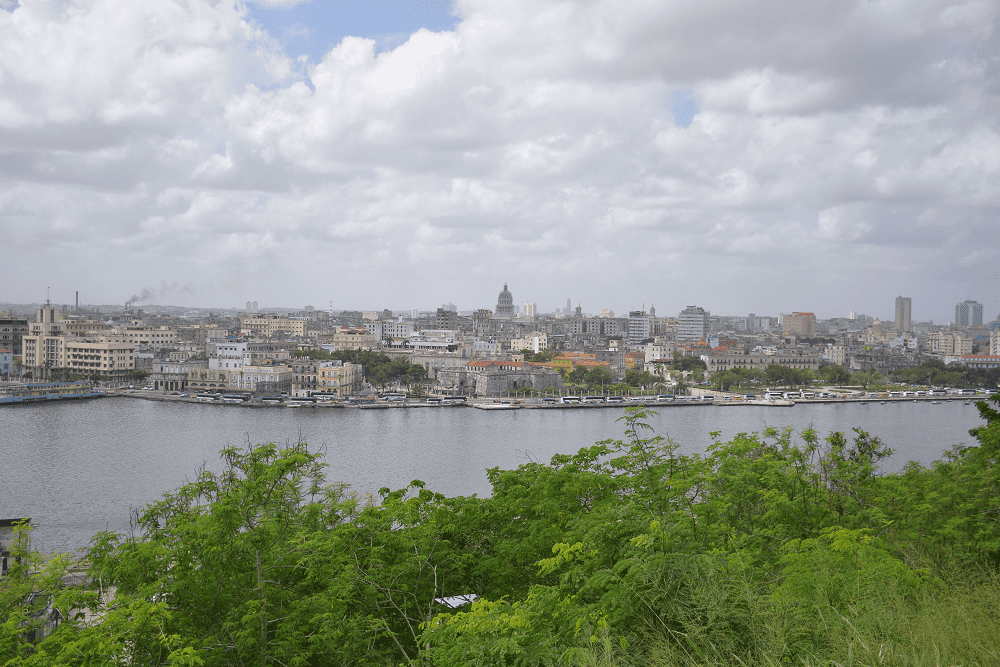 The view of Havana from the Christ, they took us to this viewpoint on the Free Walking Tour