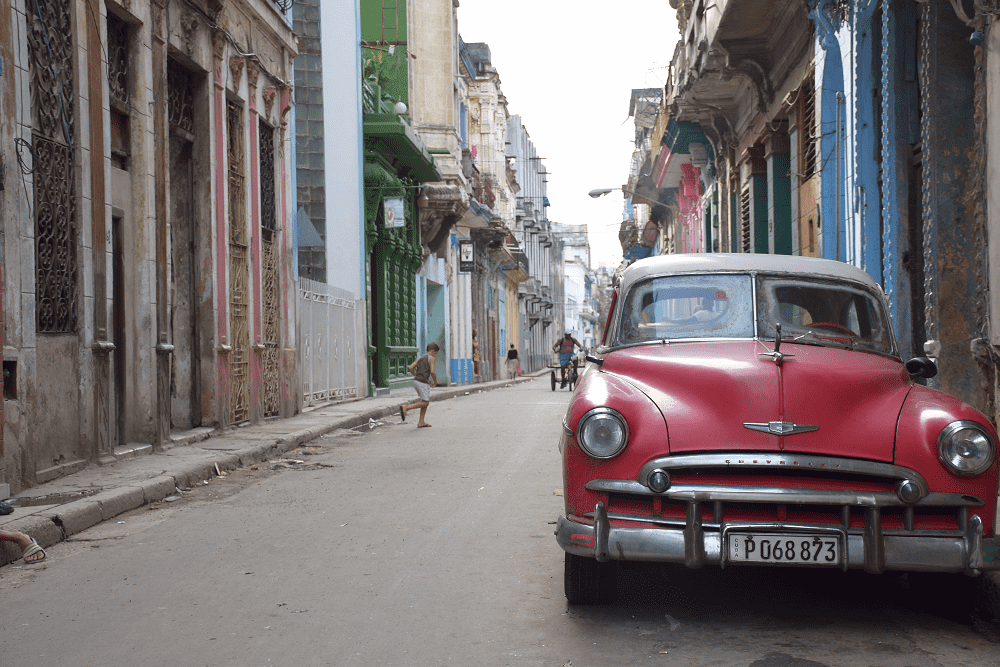 The streets of Central Havana