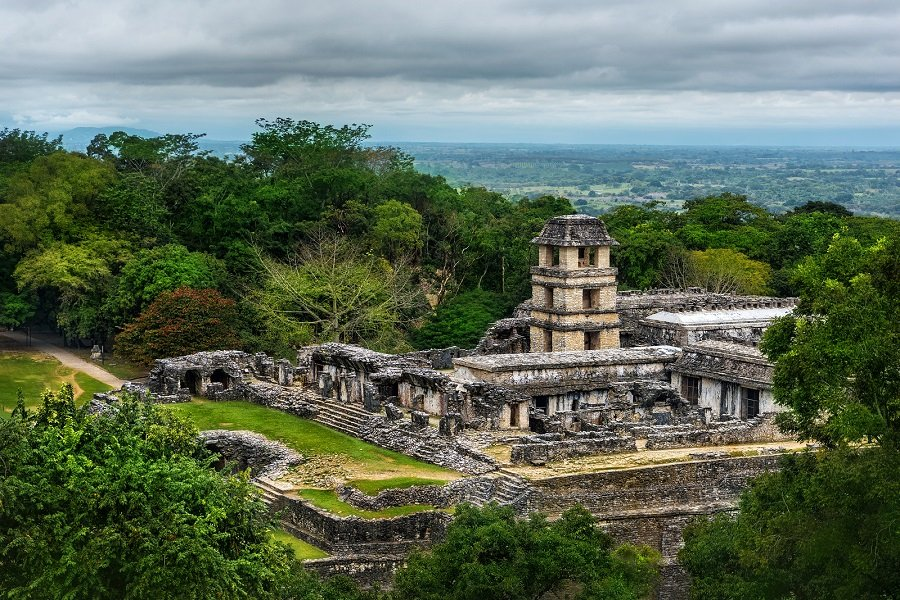 The Ruins Of The Ancient City Of Palenque.