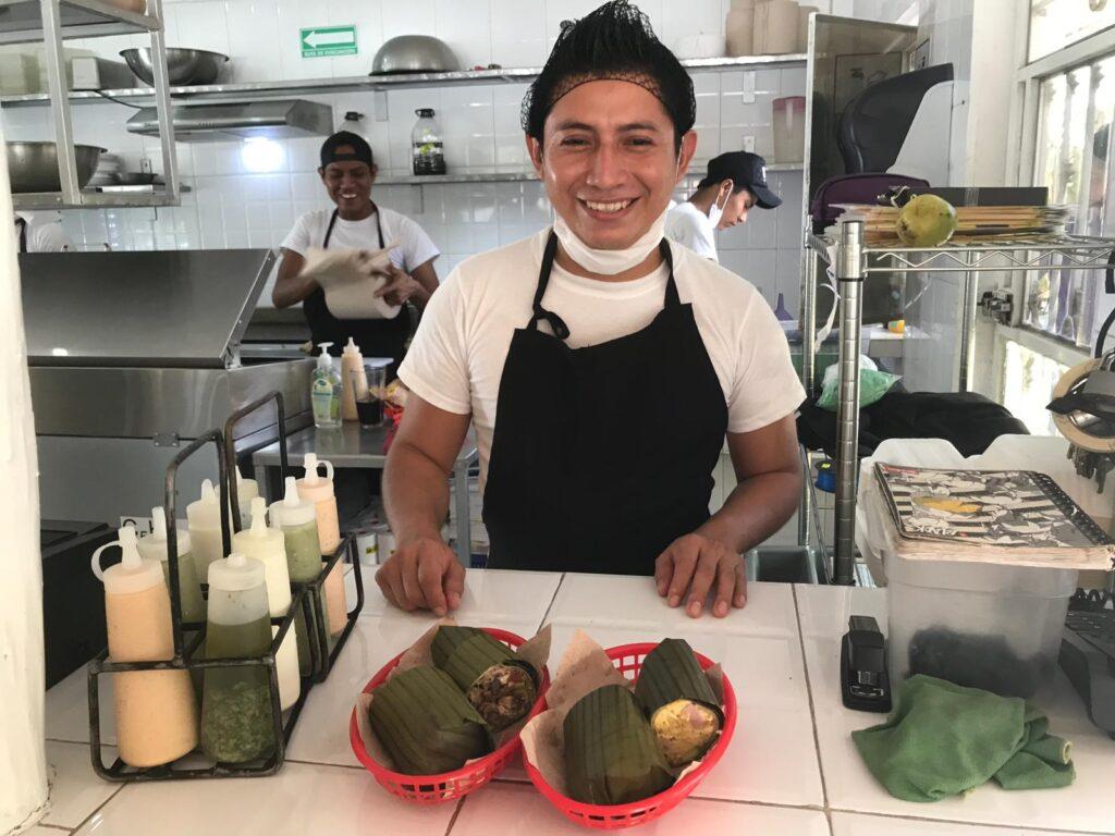 burritos from the restaurant Burrito Amor in Tulum, Meixoc