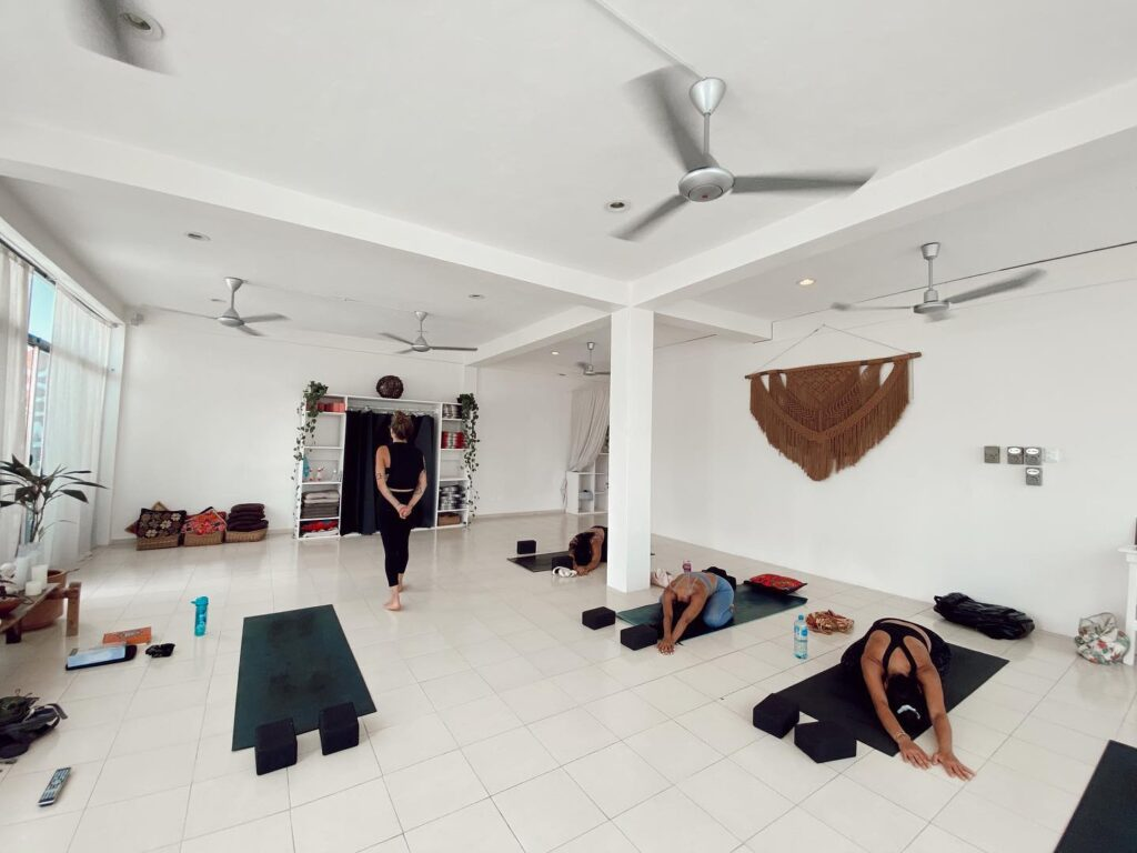 inside of Yoga Dicha Tulum