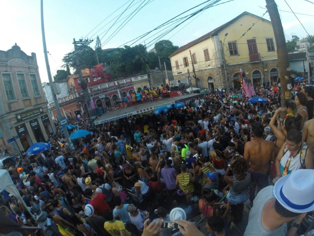 block party in rio during carnival