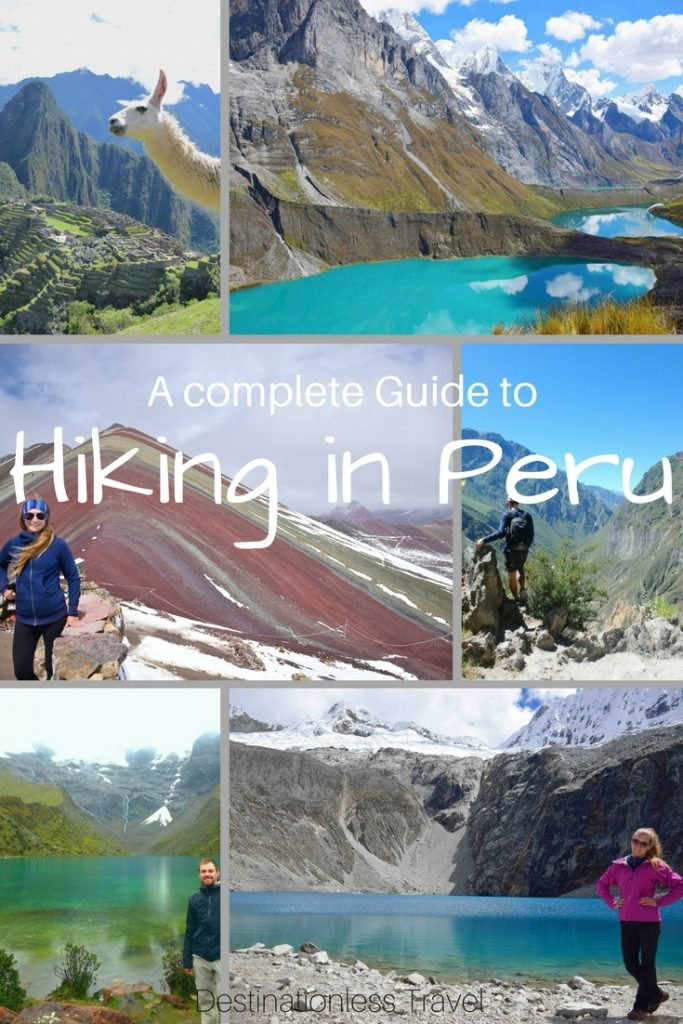 hiking in Peru pin