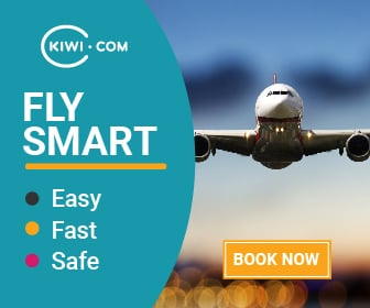 kiwi.com booking flights banner