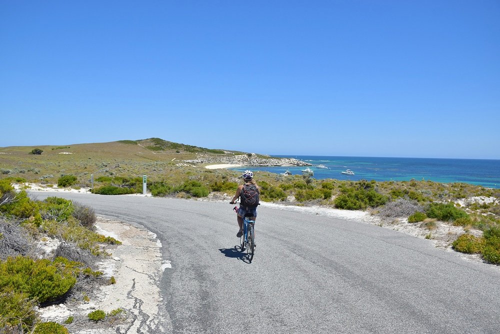cycling with a view on rottnest island
