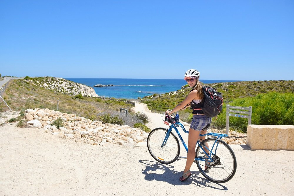 bike riding on rottnest island in perth australia