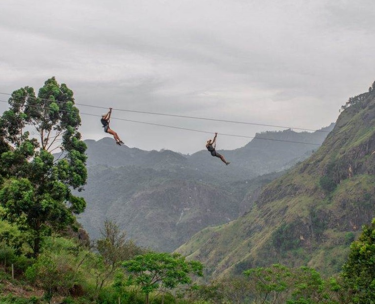 go ziplining as one of the things to do in salent